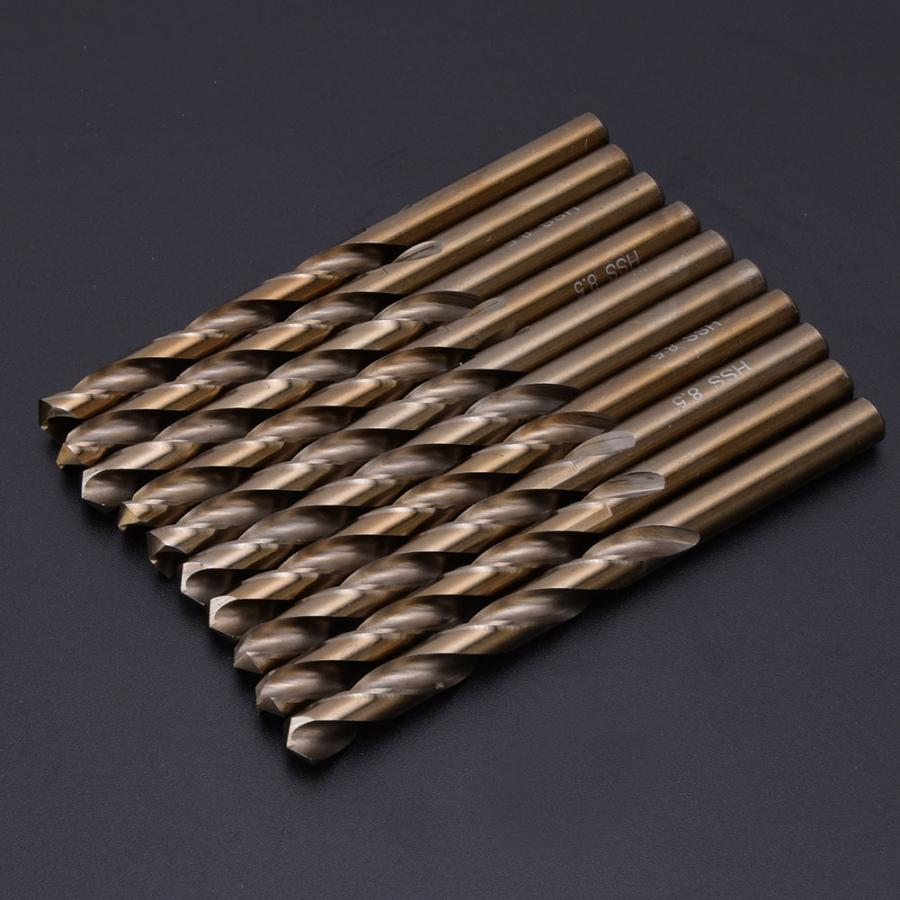 8.0mm High Speed Drill Bits 1 Box High Speed Drilling Tool for Electric Drills for Steel Stainless Steel Iron 8mm//8.5mm
