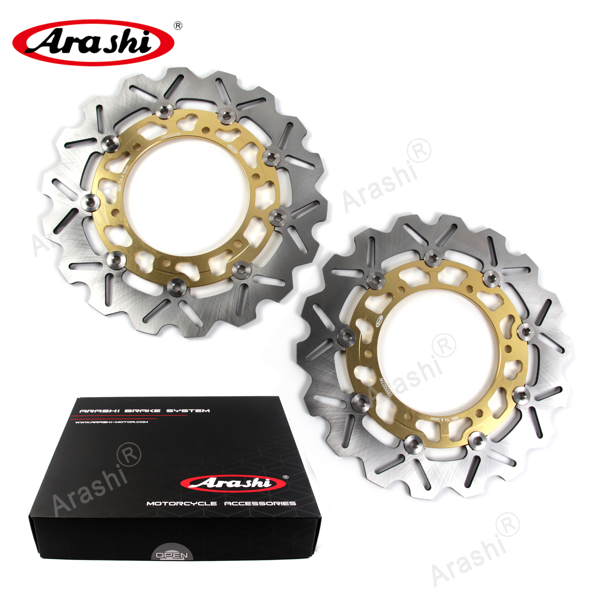 Arashi Front Rear Brake Disc Rotors for YAMAHA YZF R1 2002 2003 Motorcycle Replacement Accessories YZF-R1 Black YZF-R6 R6 1999-2002