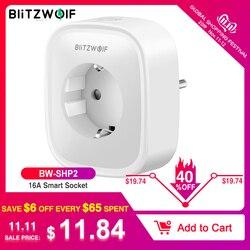 BlitzWolf BW-SHP2 wifi умная розетка с европейской вилкой 220 В 16А пульт дистанционного управления умный переключатель синхронизации работает для Amazon ...