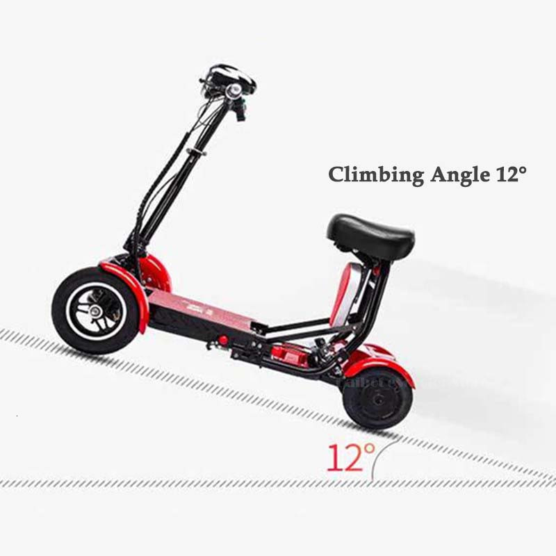 Daibot Electric Elderly Scooter 4 Wheels Electric Scooters 10 Inch 500W Foldable Electric Scooter For Disabled BlueBlackRed (45)