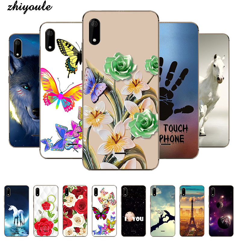 For Wiko Sunny 4 plus Case Silicone Flamingo Painted Cat Owl Anima ...