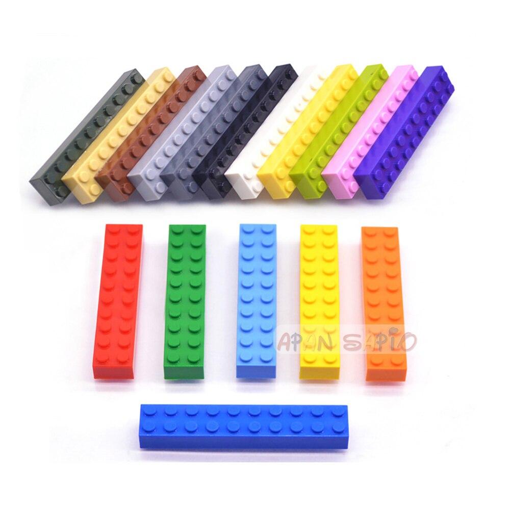 10 шт., DIY строительные блоки, толстые кирпичи 2x10Dots, развивающие, творческие, совместимые с lego, пластиковые игрушки для детей