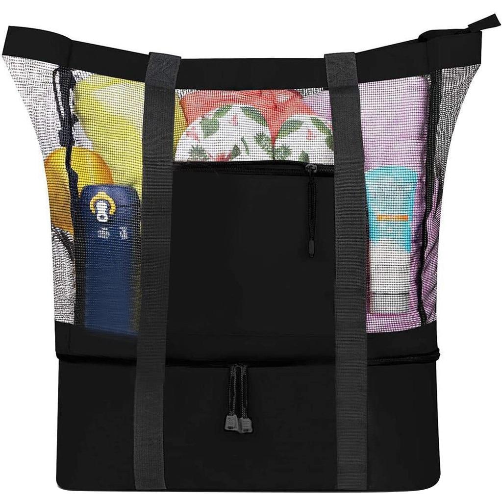 Camping Mesh Tote Bag, iBuyXi.com, Accessories, Camping, Patented 2 in 1 Design Tote Bag, Picnic Bag, Outdoor Bag, Beach Bag