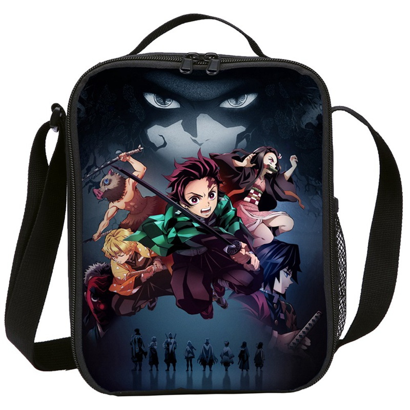 Demon Slayer: Kimetsu No Yaiba Mini Messenger Bag Women Men Crossbody Anime Kids Cosplay Lunch Bags