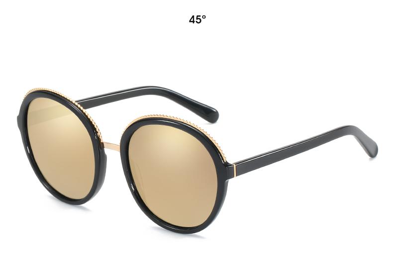 Women Sunglasses Frame Glasses Polariod Lens UV400 Polarized Sunglasses Women Fashion Round Frame Eyewear Glasses (23)