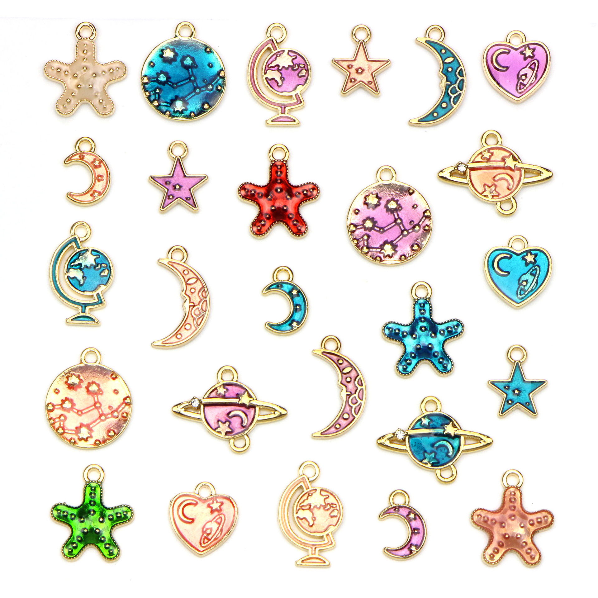 1Set Stars Moon Pendant Jewelry DIY Making Handmade Accessories Pendant Jewelry*