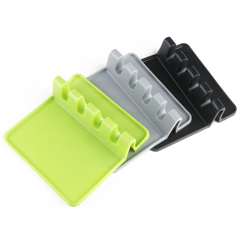 Spoon Rest Spatula-Holder Utensil Cooking-Tools Kitchen-Storage-Accessories Silicone title=