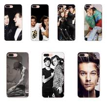 Для Apple iPhone X XS Max XR 4 4S 5 5C 5S SE 6 6S 7 8 Plus мягкие чехлы из ТПУ Harry Styles One Direction Larry Stylinson(Китай)