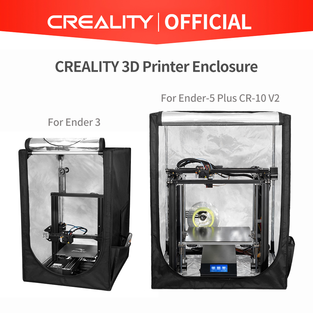 CREALITY 3D Printer Enclosure Two Size Optional For Ender-3 Ender-3 Pro Ender-5 Plus CR-10 V2 Safe,Quick and Easy installation