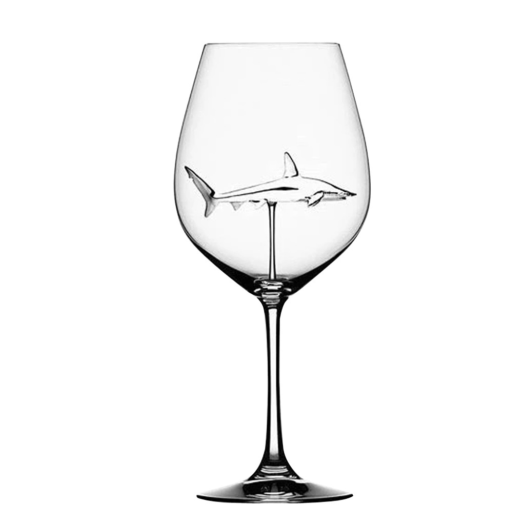 1//2PC Home Original Shark Red Wine Glass-Handmade Crystal For Party Flutes Glass