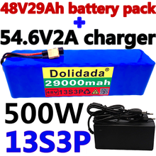 48v lithium ion battery 48v 29Ah 29000mah 500w 13S3P Lithium ion Battery Pack For 54.6v E-bike Electric bicycle Scooter +Charger
