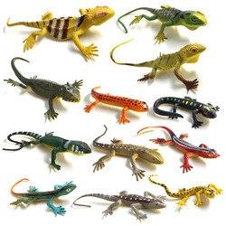 12 шт./ящерицы, имитация рептилий, пластик, лес, дикие животные, модель украшения-игрушки, Реалистичная ПВХ фигурка, домашний декор, подарок дл...