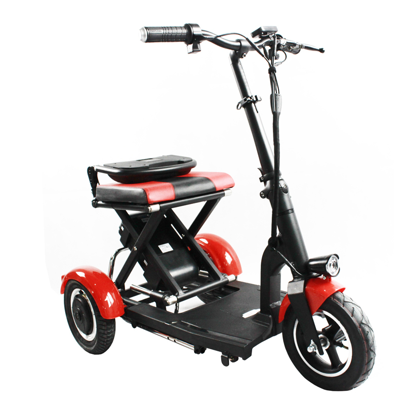 Electric Kick Scooter Adult Three Wheel Electric Scooters Tricycle 36V 300W Portable Folding Electric Elderly Scooter (4)