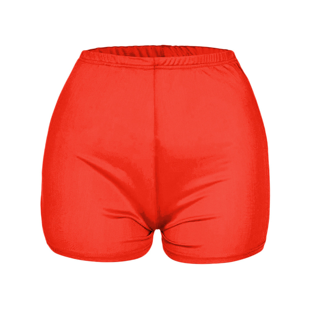 Apparel - Women's Breathable Candy Shorts Body Con Mini Shorts Sexy Club Fitness Booty Skinny Snack Shorts Bootielicious
