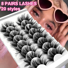 Mink-Lashes Eyelash-Extension Makeup Volume-Dramatic Fluffy Natural Long-Cross Wispy