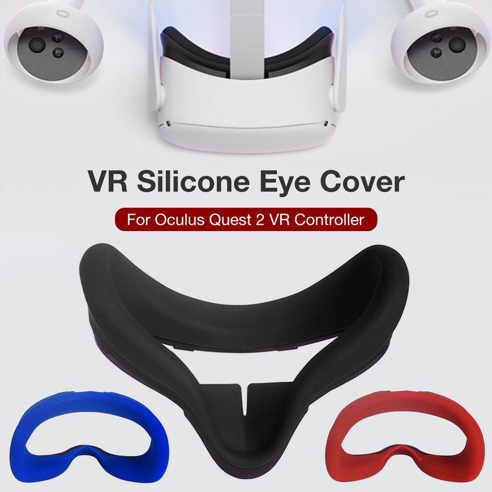WLPTION Cubierta Facial de Silicona para Oculus Quest 2 VR Cubierta de Repuesto para Almohadilla Facial para Accesorios Q2 VR Lavable Antideslizante Antideslizante