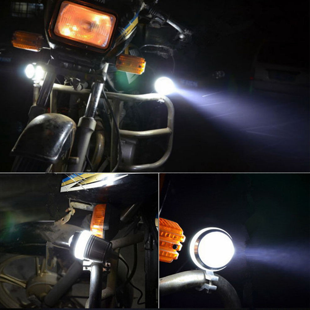 Hot Universal Waterproof Black Shell U3 LED Motor Bike Motorcycle Headlight Spot Light (5)