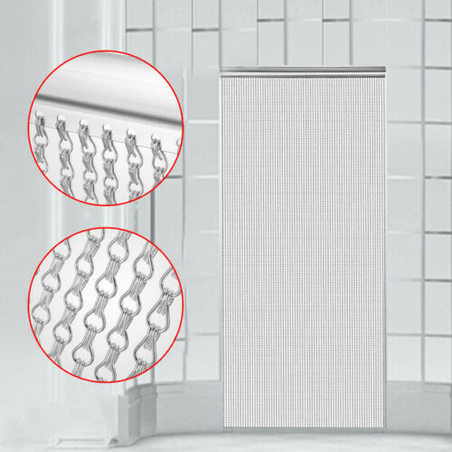 VEVOR Aluminum Metal Chain Curtain 84x35 Inch Silver Chain Curtain Door Screen Curtain title=
