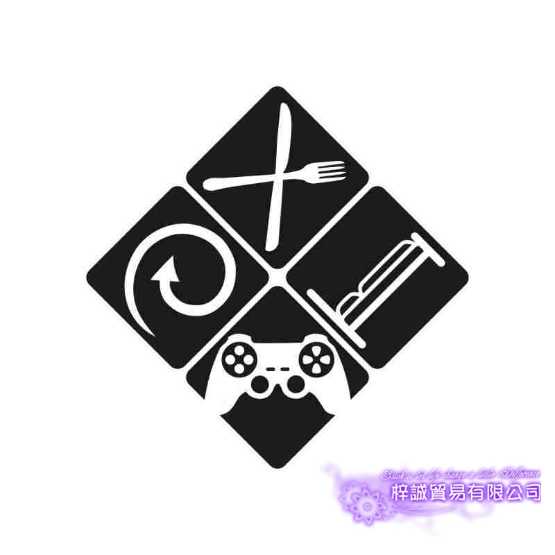 Video Game Sticker Eat Sleep Play Game Room Decal Gaming Posters Gamer Vinyl Wall Decals Parede Decor Mural Video Game Sticker