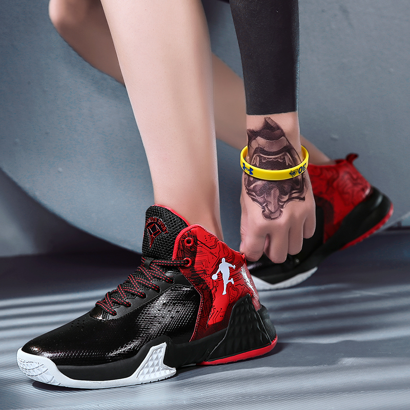 Sneakers Basketball-Shoes Wearable Gym-Training New Mesh Non-Slip Men Cushion title=