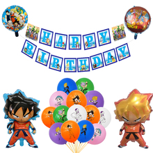 Decorations Toys Dragoned-Balloons Ballons-Happy-Birthday-Banner Party-Supplies Anime-Goku