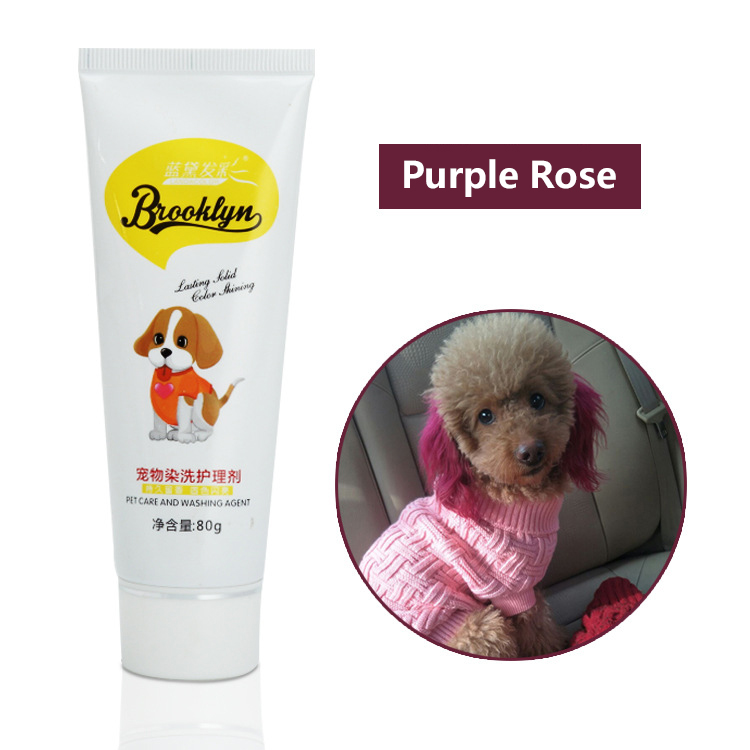 LEAQU 80g Pet Hair Dye Cream Animals Semi Permanant Pet Grooming Hair Coloring Dyes Pigment Agent Supplies for Pet Dog Cat Chocolate Brown