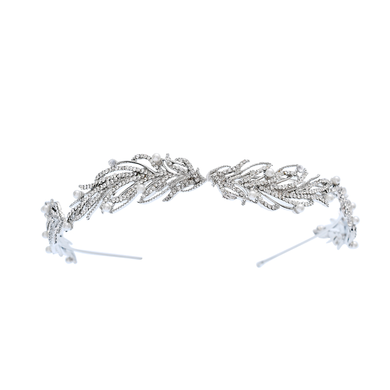 NPASON 2020 Women tiara Luxury Women Princess Crown Headband Rhinestone Tiara Crowns Jewelry Bridal Hair Accessories Wholesale