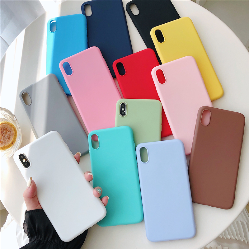 Matte Case For Xiaomi Redmi 4A 4X 5 6A 7 8 Note 6 Pro GO S2 Y2 K20 Silicone Soft Mobile Phone Bags Cases Cute Gift