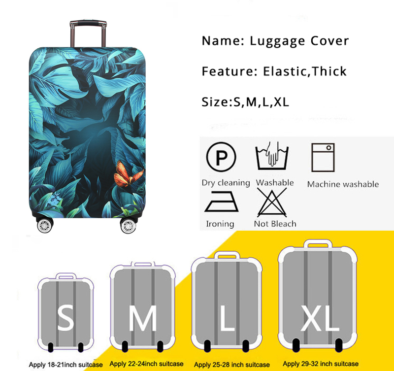 LEISISI Cambodian Flag Luggage Cover Elastic Protector Fits XL 29-32 in Suitcase