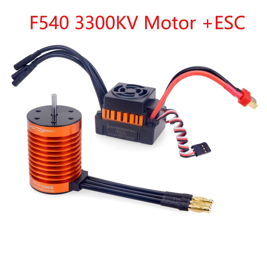 KM/_ Waterproof 3650 3900KV Brushless Motor 60A ESC Combo Set for 1:10 RC Car T