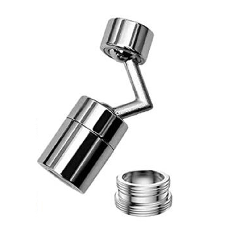 Anti-Splash QUECAOCF Universal Splash Filter Faucet Leakproof Design with Double O-Ring 720/° Rotatable Faucet Sprayer Head with 4-Layer Net Filter 1 Oxygen-Enriched Foam