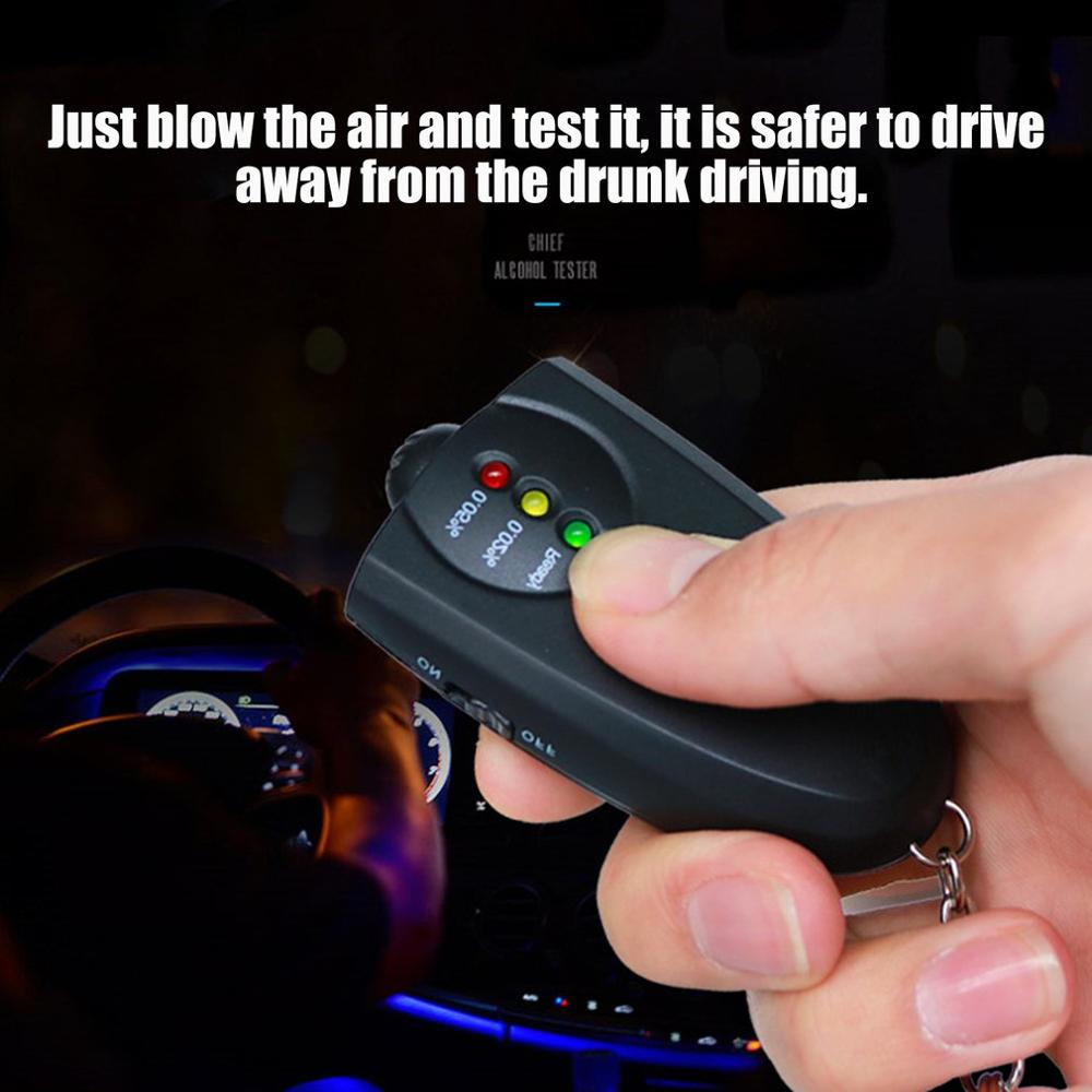 Diagnostic-Tool Alcohol-Breath-Tester Breathalyzer-Alcohol-Analyzer Keychain-Design Professional title=