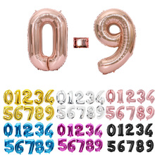 Balloons Shower-Supplies Foil-Number Globos Wedding-Party-Decorations Birthday Gold Silver