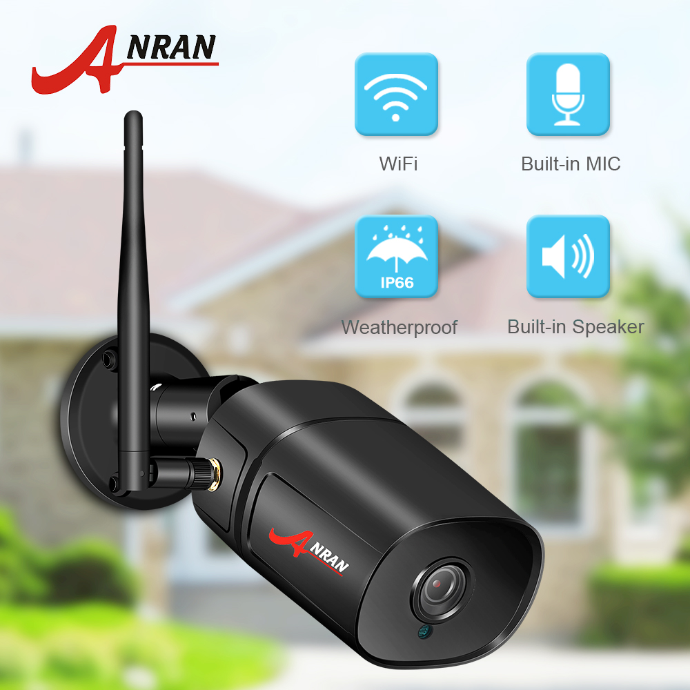 ANRAN 1080P IP Camera Wifi HD Outdoor Infrared Night Vision Security Camera Two Way Audio Wireless Video Surveillance Camera