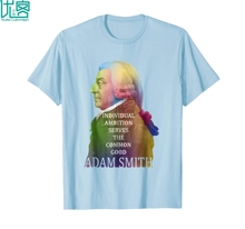 T-shirt for economists, financier or accountant gifts presents Adam SMith