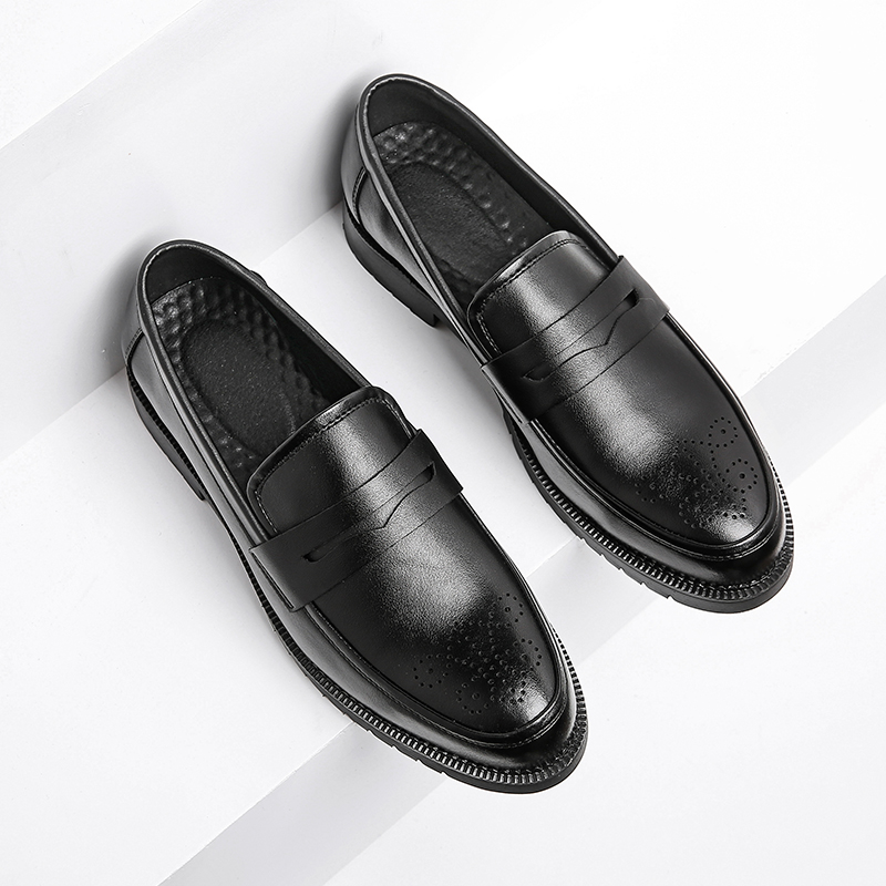 Men Dress Shoes Brogue Style Paty Leather Wedding Shoes Men Leather Oxfords Formal Shoes