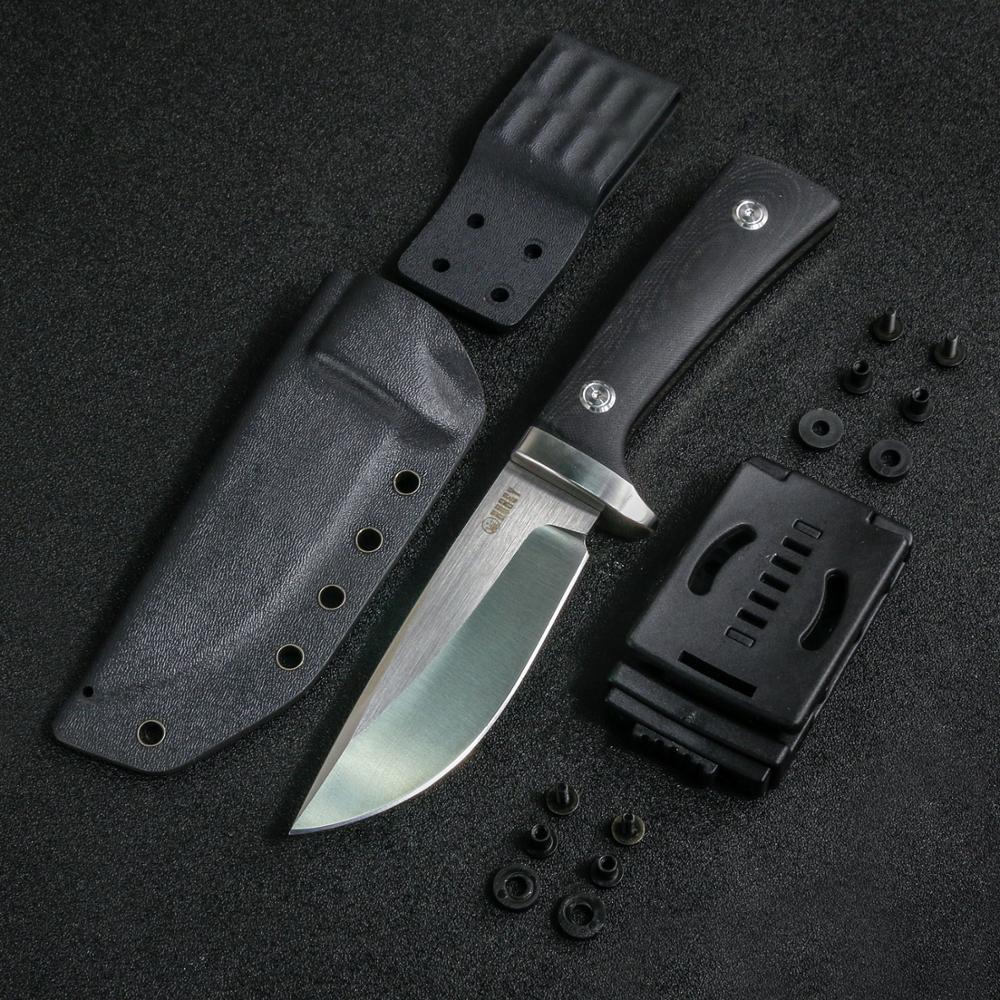 KUBEY KU160 Тактический фиксированный нож D2 стальное полностью закрепленное лезвие с