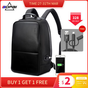Мужской рюкзак BOPAI, водонепроницаемый рюкзак для ноутбука 15 дюймов с usb-зарядкой и защитой от кражи