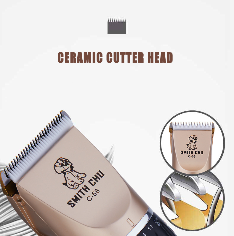 Text - Professional Pet Grooming Clippers Deluxe Dog Grooming Set Cordless Electric Dog Cat Grooming Trimming-Kit