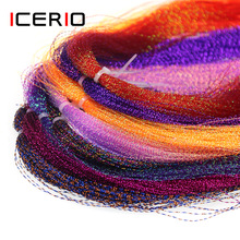Lure Fishing Jig-Hook Tinsel-Fly-Tying Fiber-Material Crystal ICERIO Flashabou Holographic