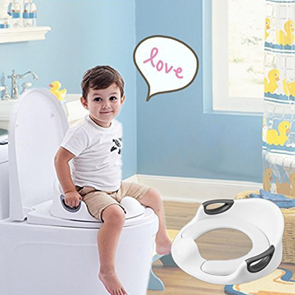 Potty Training Seat For Kids Boys Girls Toddlers Toilet Baby With Cushion Handle