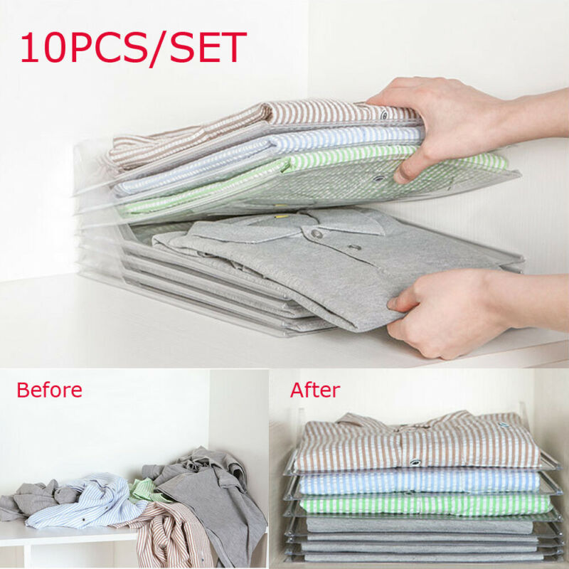 Stack-Organizer Closet Drawer Fast-Clothes Fold-Board Household 10pcs Cmreusable Hot-Sale title=