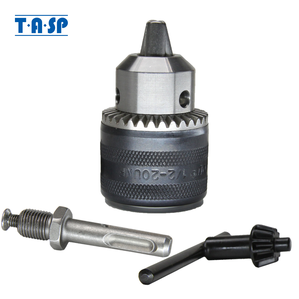 """1Set 13mm 1//2/"""" UNF Drill CHUCK with SDS Shaft Adaptor and Chuck Key Professional"""