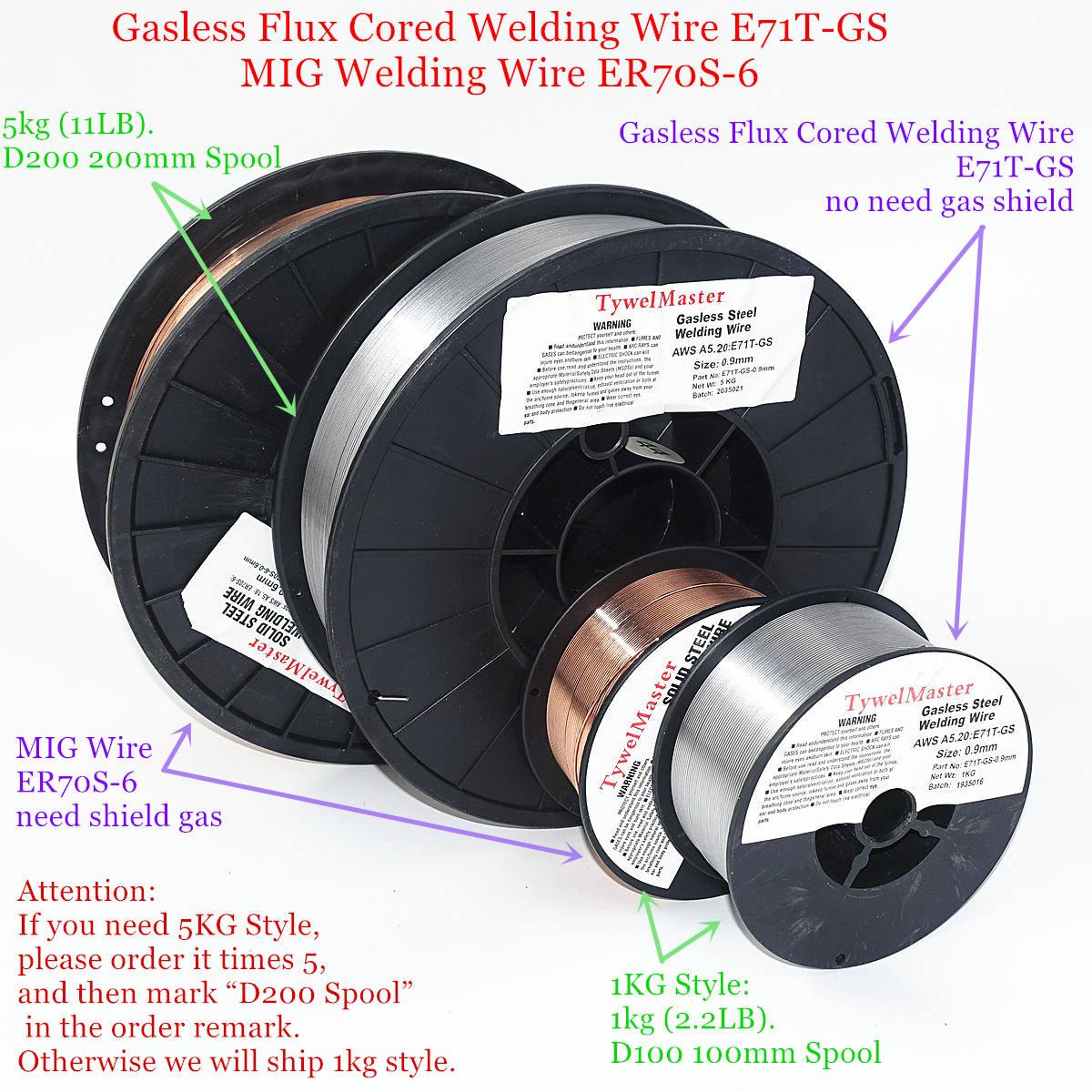 """ER70S-6 .035/"""" 44 Lbs Roll 0.9 mm Mild Steel MIG Welding Wire"""