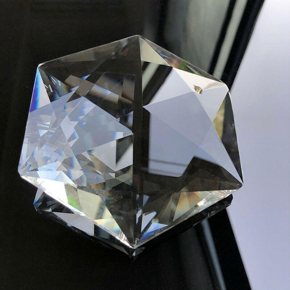 "4/"" Triangle Hexagram CRYSTAL Chandelier Glass Prism Pendant Judaism SUNCATCHER"