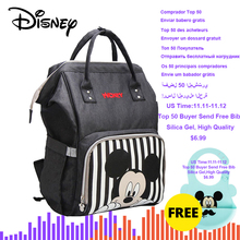 Disney Mummy Backpack Diaper-Bag Bottle-Warmer Baby Mickey Minnie Maternal NEW Bolsa