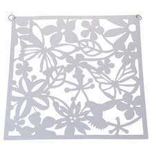 Fashion 4 Pcs Butterfly Bird Flower Hanging Screen Partition Divider Panel Room Curtain Home Decor White(China)