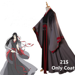 [Only Coat size L ]Wei Wuxian The Yiling Cosplay Grandmaster of Demonic Cultivation Costume Wei Wuxian Mo Dao Zu Shi Costume Men