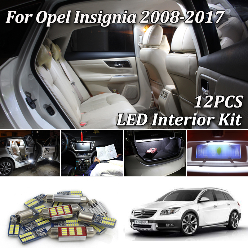 Premium LED Interior Light Conversion Kit Vauxhall INSIGNIA 08-16 White 14 Bulb