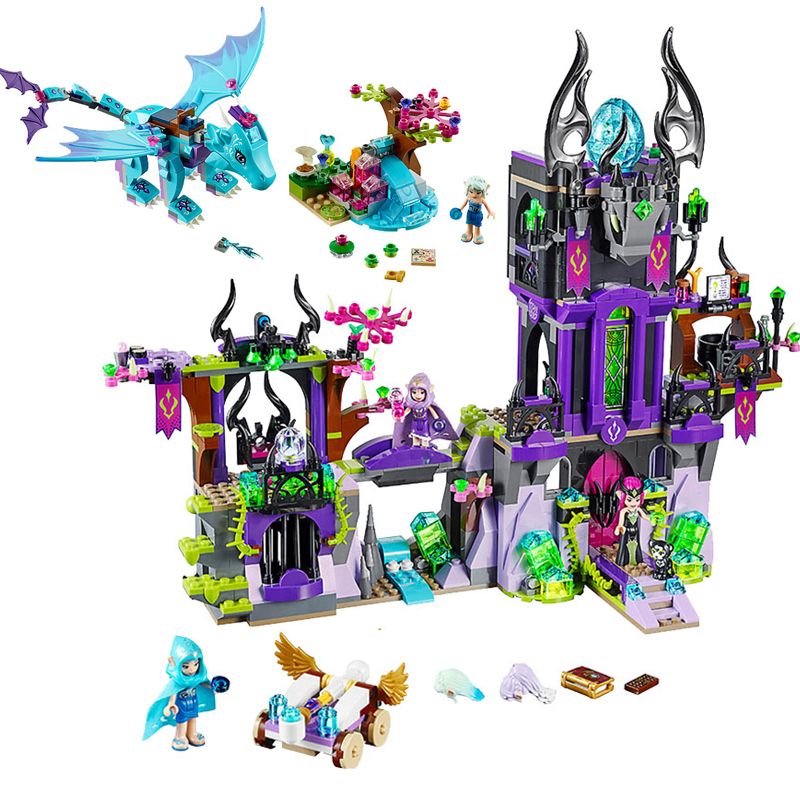 Legoing Friends Figures Elves Girl Series City Black Magic Castle Building Blocks Legoeds Animals Pet Elf Dragon Bricks Kid Toys